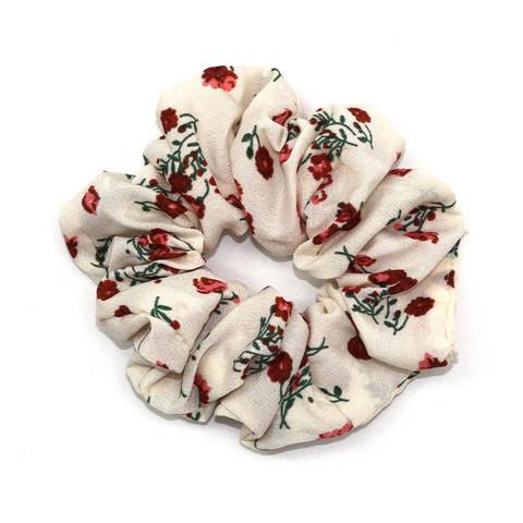 Tyylikäs scrunchie kukkasilla
