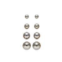Hopeiset pallo-nappikorvikset (eri kokoja)