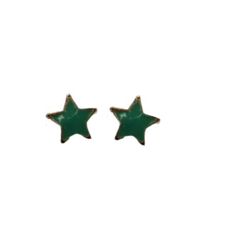 Vihreät tähti-nappikorvikset