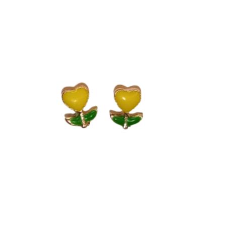 Sydänkukka-nappikorvikset