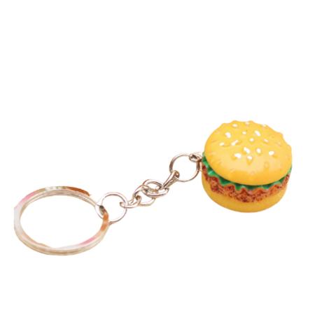 Herkullinen hampurilainen-avaimenperä