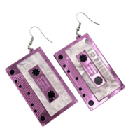 C-kasetti korvakorut pinkki