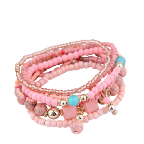 Pinkki rannekoru