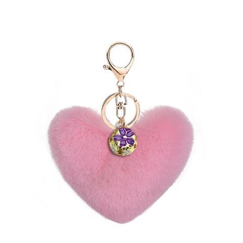 Pörröinen sydän avaimenperä