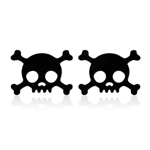 Musta pääkallo nappikorvakoru