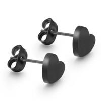 Musta sydän nappikorvakorut