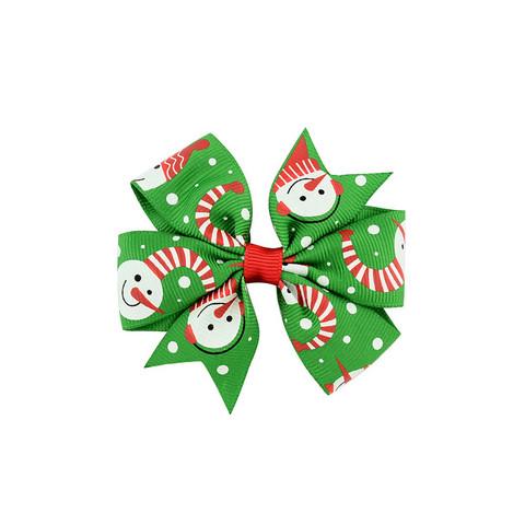 Hiusklipsi lumiukot - vihreä -