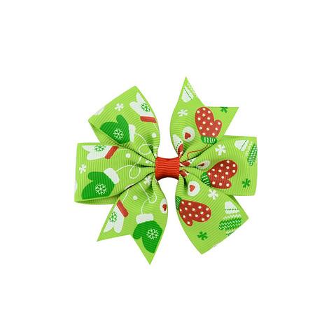Hiusklipsi joululapaset - vihreä -