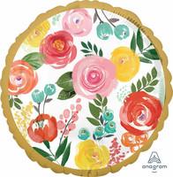Värikkäät ruusut foliopallo