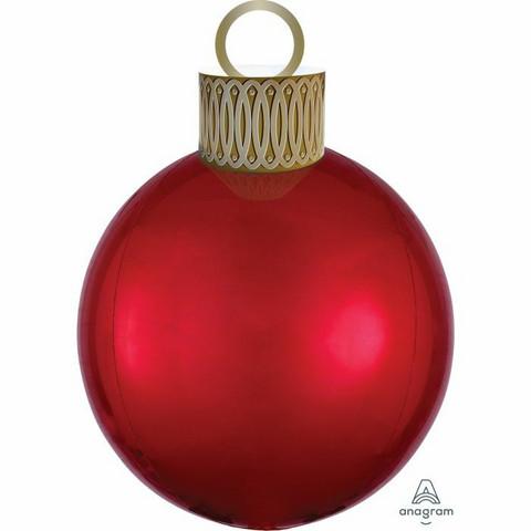 Punainen joulupallo foliopallo