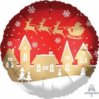 Joulupukin kylä foliopallo