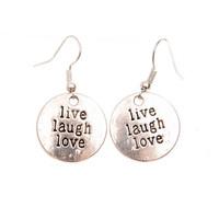 Live laugh love-korvakorut