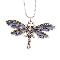 Näyttävä sudenkorento-kaulakoru (eri värejä)