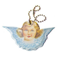 Guardian Angel reflector (pink/light blue)
