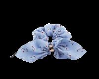 Rusettiponnari kukkakuosilla v.sininen/vanharoosa