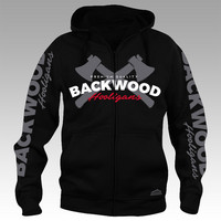 Backwood Hooligas® The Axes hoodie with zipper
