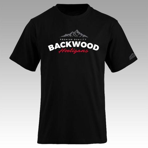 Backwood Hooligans® Musta T-paita