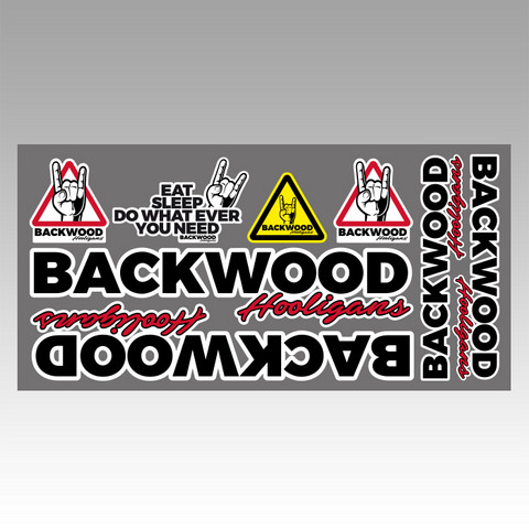 Backwood Hooligans® Sticker set