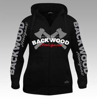 Backwood Hooligas® The Axes hoodie with zipper for women