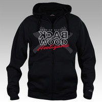 Backwood Hooligas® Digital Axes hoodie with zipper
