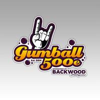 Muotoon leikatut Gumball 500e tarrat, 2 kpl (leveys 12cm)