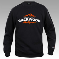 Backwood Hooligans® Sweatshirt with orange print