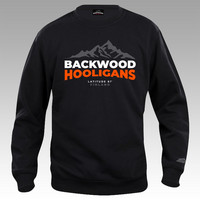 Backwood Hooligans® Latitude Sweatshirt with orange print