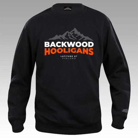 Backwood Hooligans® Latitude Sweatshirt with orange print