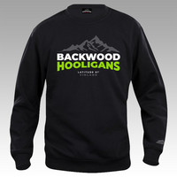 Backwood Hooligans® Latitude Sweatshirt with green print