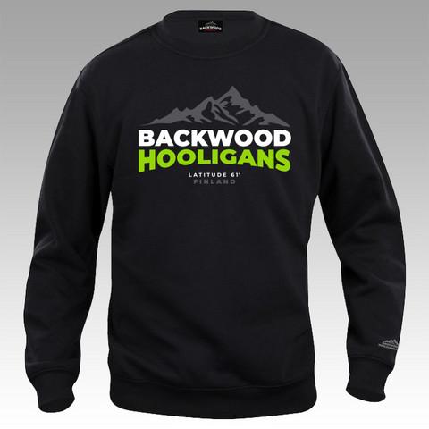 Backwood Hooligans® Latitude College-paita vihreällä painatuksella
