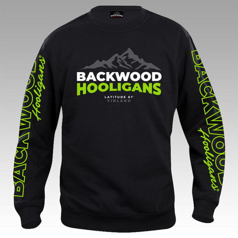 Backwood Hooligans® Latitude Sweatshirt with green prints