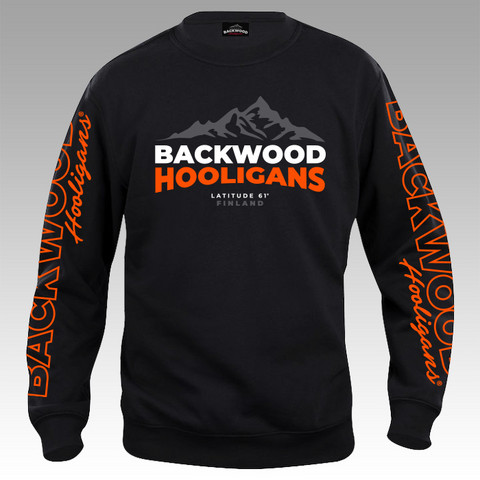 Backwood Hooligans® Latitude Sweatshirt with orange prints