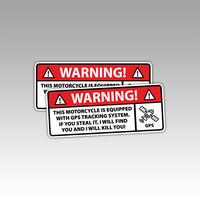Varoitustarra (GPS) moottoripyörään tai mopoon