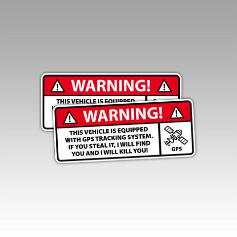 Varoitustarra (GPS) autoon / kulkuneuvoon