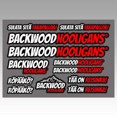 Backwood Hooligans® Sticker set 3