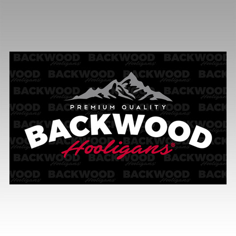 Backwood Hooligans® Lippu (vuorilogo)