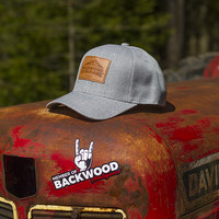 Backwood Hooligans® Snap Back Lippis (käyrä lippa)