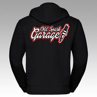 Old Spark Garage huppari, vetoketjulla