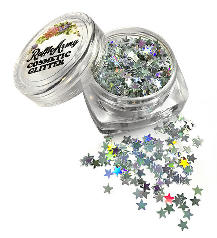 Night sky SILVER STAR glitter