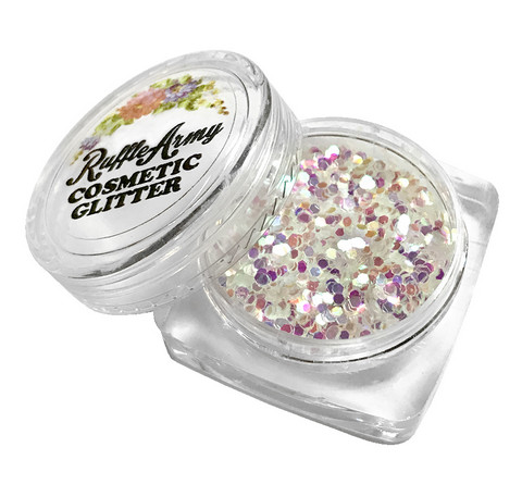 Mermaid IRIDESCENT WHITE glitter