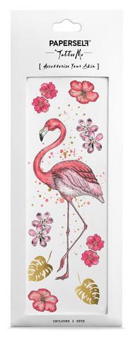 Siirtotatuointi flamingo