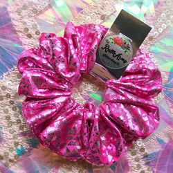 Pinkki scrunchie Candy Sparkle