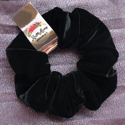 Iso samettinen hiusdonitsi Black Luxury
