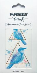Siirtotatuointi sininen lintu MINI