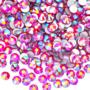 Pieni punasävyinen lasinen AB-ihotimantti