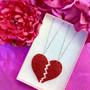 BROKEN GLITTER HEART -kaulakorusetti