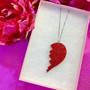 BROKEN GLITTER HEART -kaulakoru