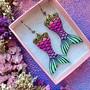 Rainbow Mermaid -korvakorut pieni koko
