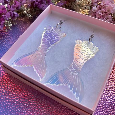 Fantasy Mermaid -korvakorut hologrammi
