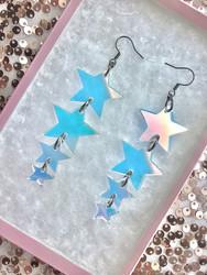 Hologrammihohtoiset TWINKLE TWINKLE BIG STAR -korvakorut